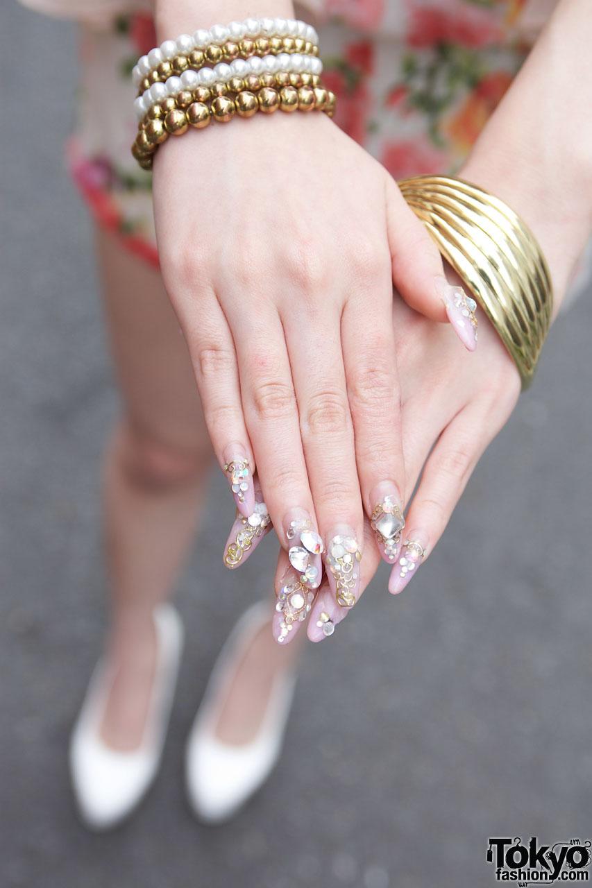 Jeweled Japanese Nail Art – Tokyo Fashion News