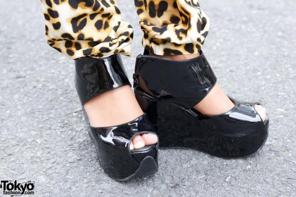 Black Platform Shoes & Leopard Print