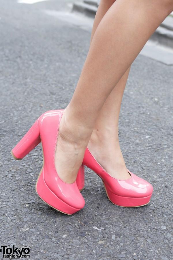 Pink Platform Heels in Tokyo