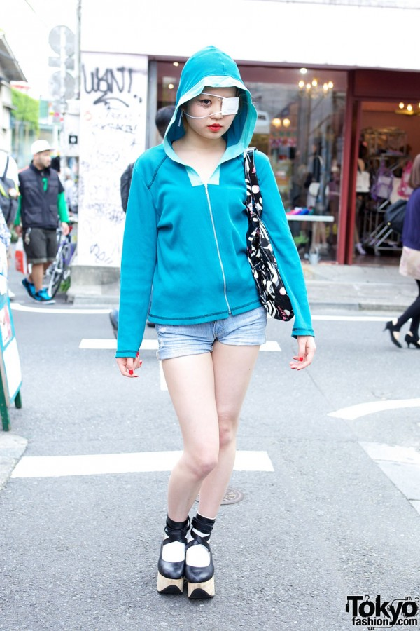 Harajuku Girl's Bindi, Hoodie & Short Shorts
