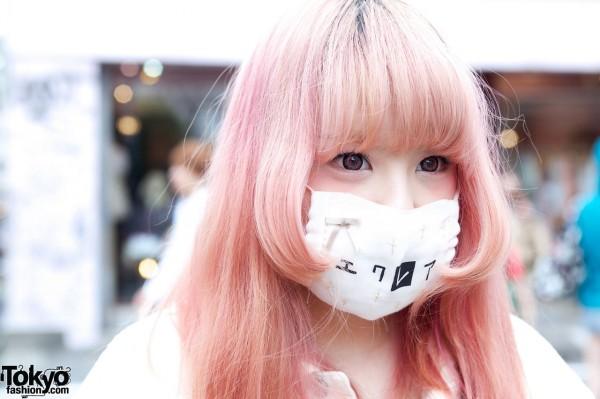 Girl w/ face mask in Harajuku