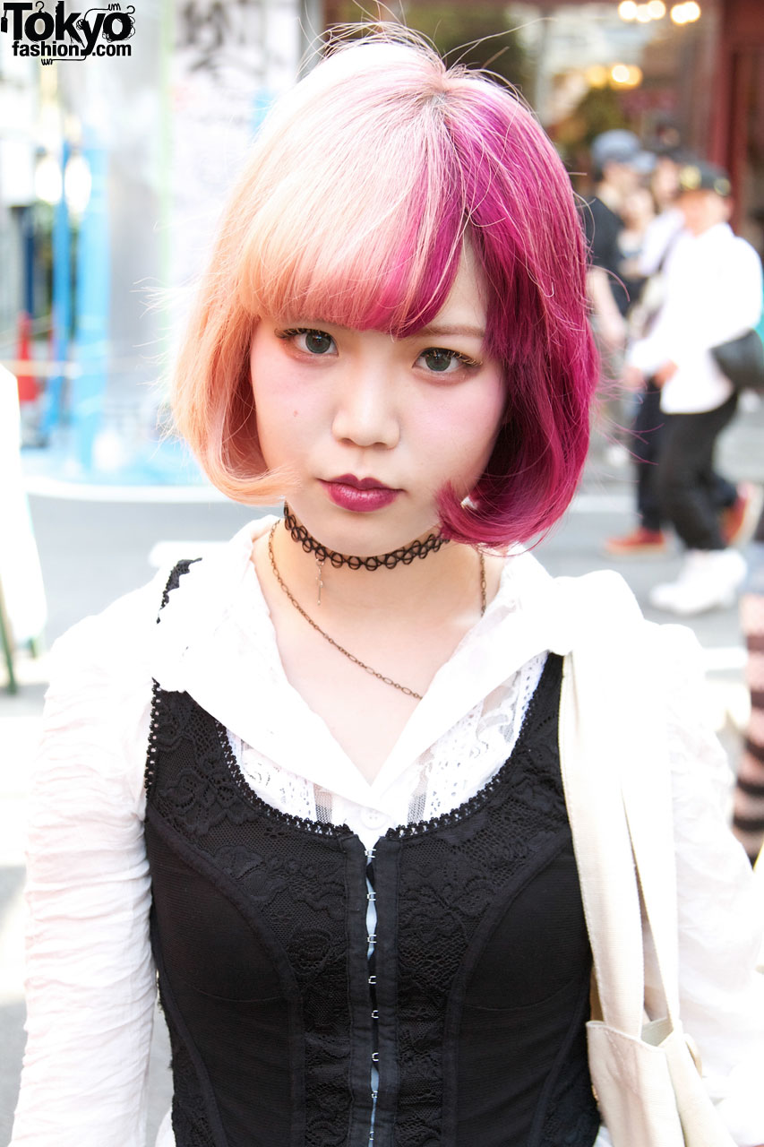 Two Tone Hair Amp Bubbles Tattoo Necklace Tokyo Fashion News