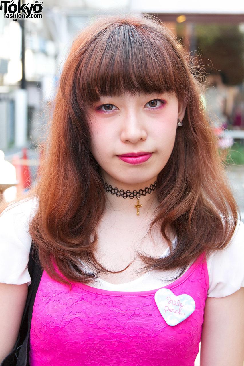 Bubbles tattoo choker w/ gold cross – Tokyo Fashion News