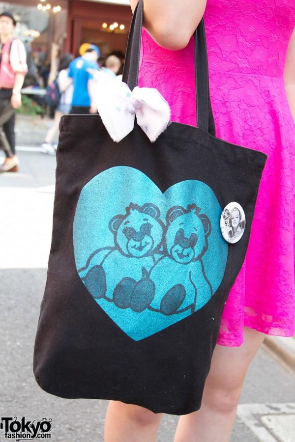 Nadia bag w/ bears in Harajuku