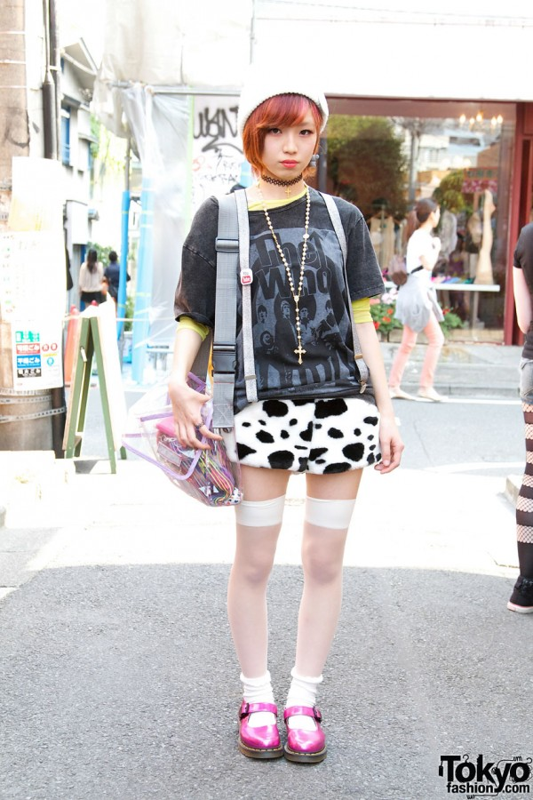 One Spo Plush Shorts in Harajuku