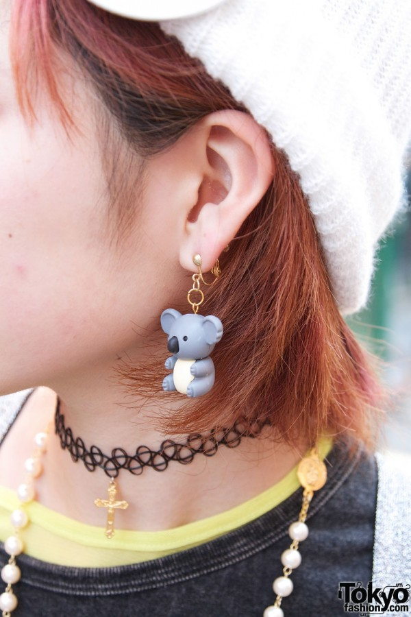 Kawaii Koala Earring in Harajuku
