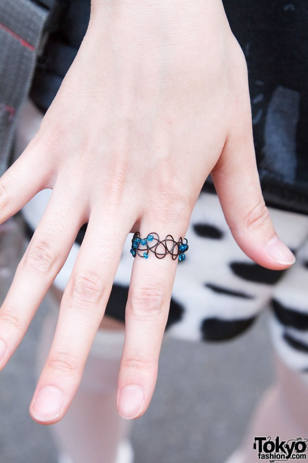 Wire and Beads Ring