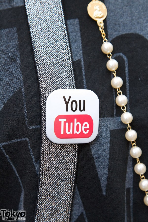 You Tube Button on Suspenders