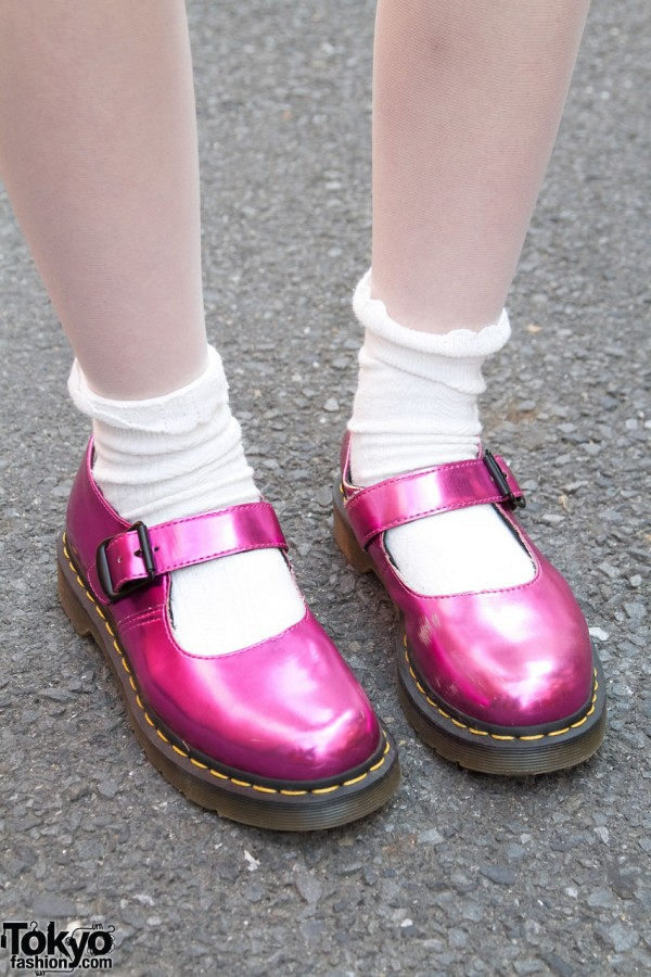 Pink Dr Martens Mary Janes
