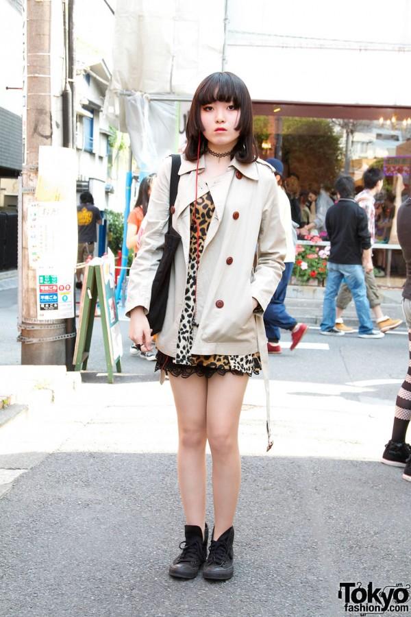 Nadia Animal Print Dress & Converse Sneakers