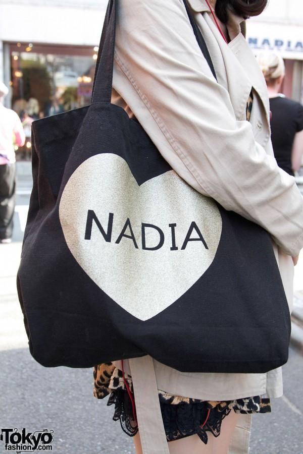 Nadia heart bag in Harajuku