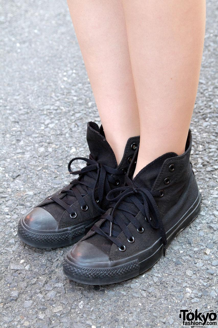 all black converse high tops tumblr