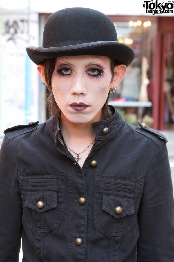 Bowler Hat & Glam Makeup