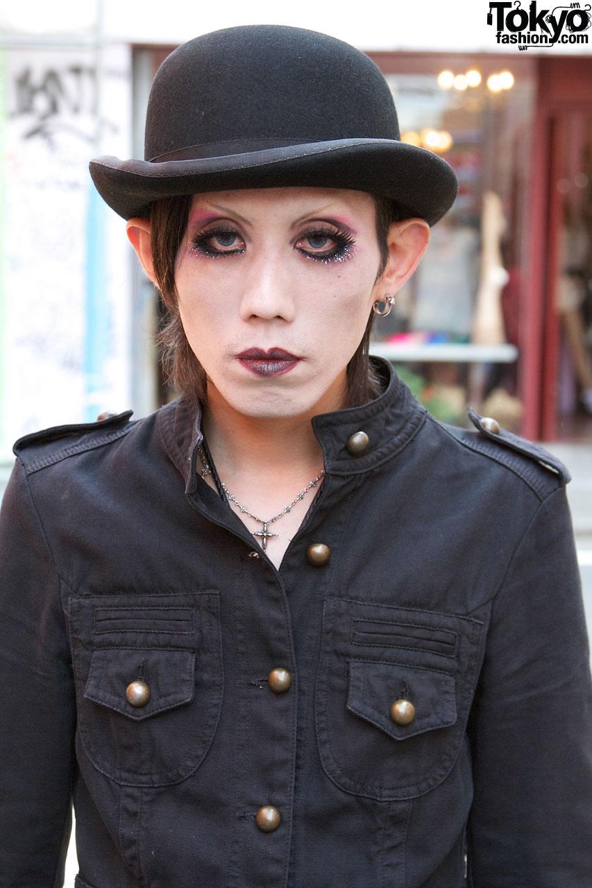 Bowler Hat Glam Makeup