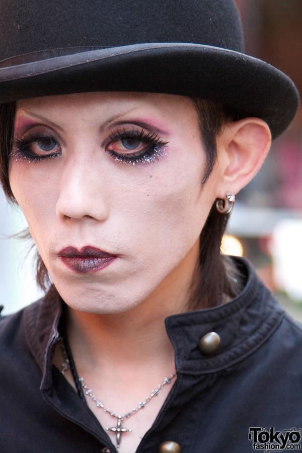 Mens Glam Punk Makeup & Fashion
