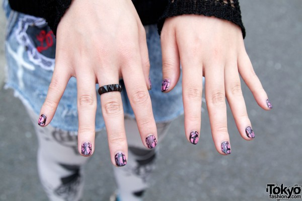 Artistic nails in Harajuku