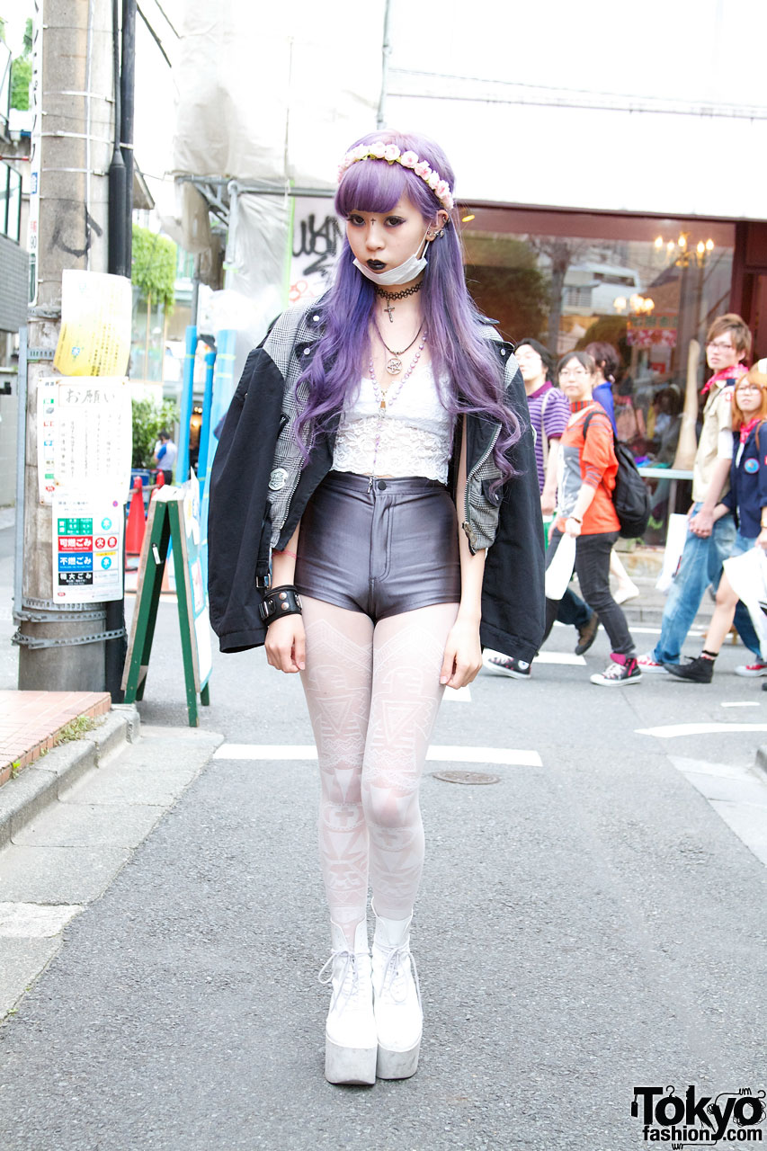 Juria S Lavender Hair Choco Moo Tights Amp Tokyo Bopper In
