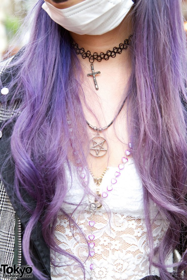 Choker & Tattoo Necklace in Harajuku