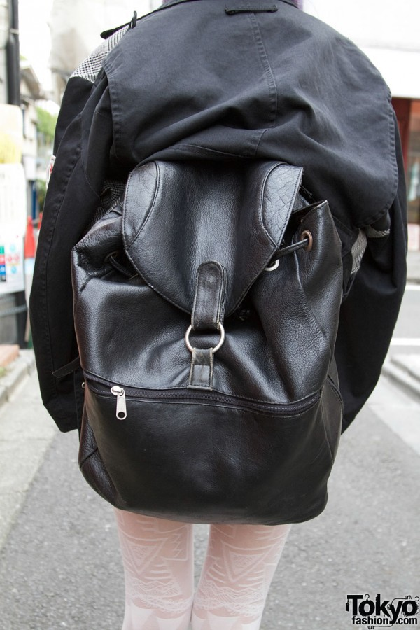 Vintage Leather Backpack in Harajuku