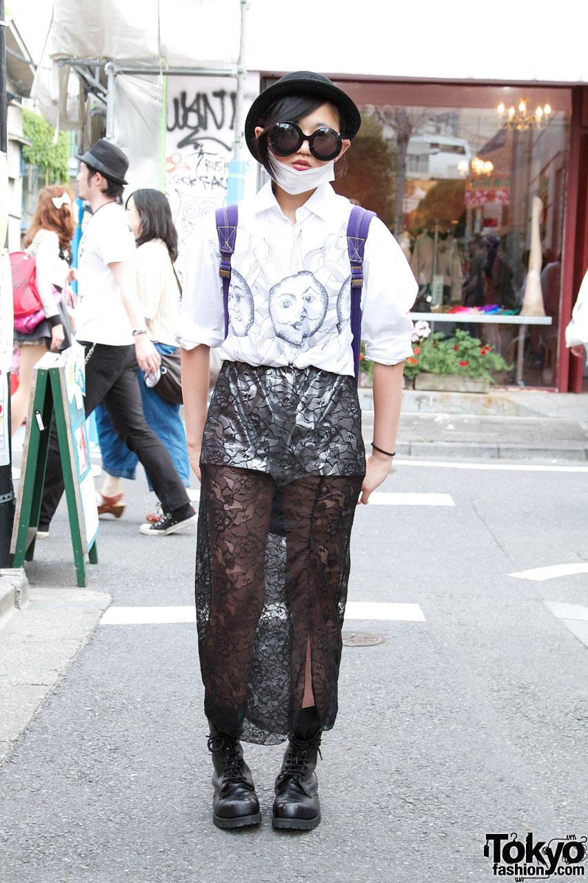 Long Lace Skirt in Harajuku