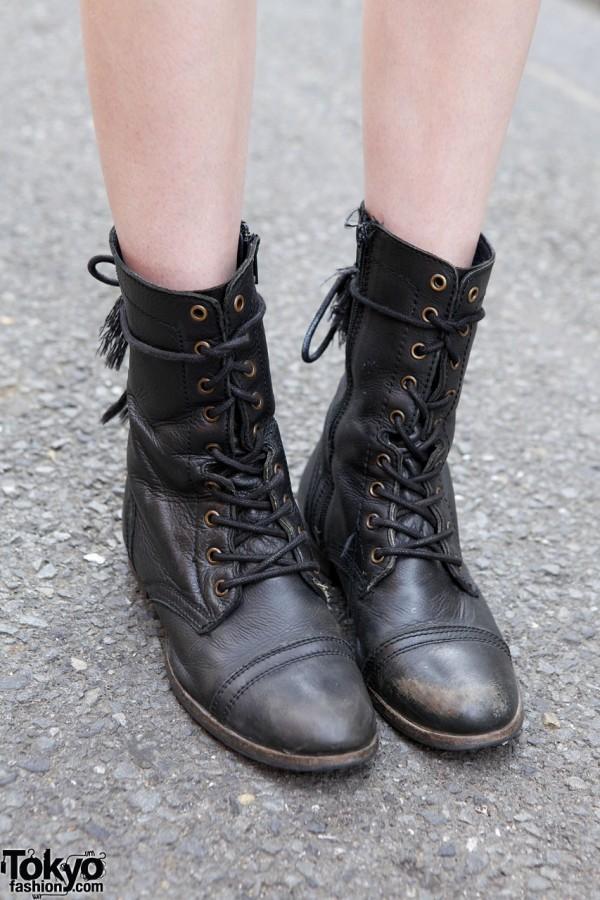 Black Boots in Harajuku