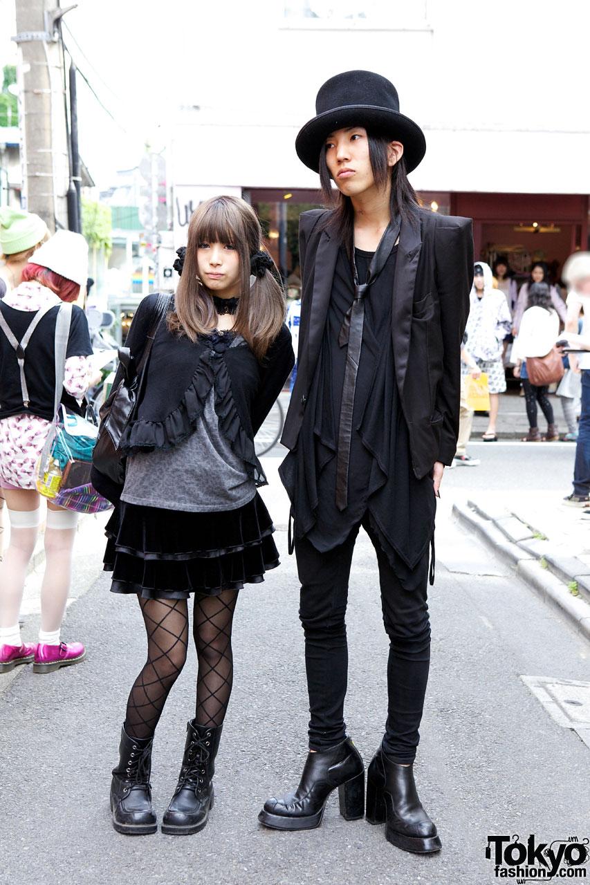 Goth Top Hat Black Label Tux Jacket Vs Black Peace Now