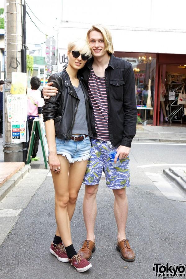 Models James Cater & Alina Levichkina Harajuku Street Snaps