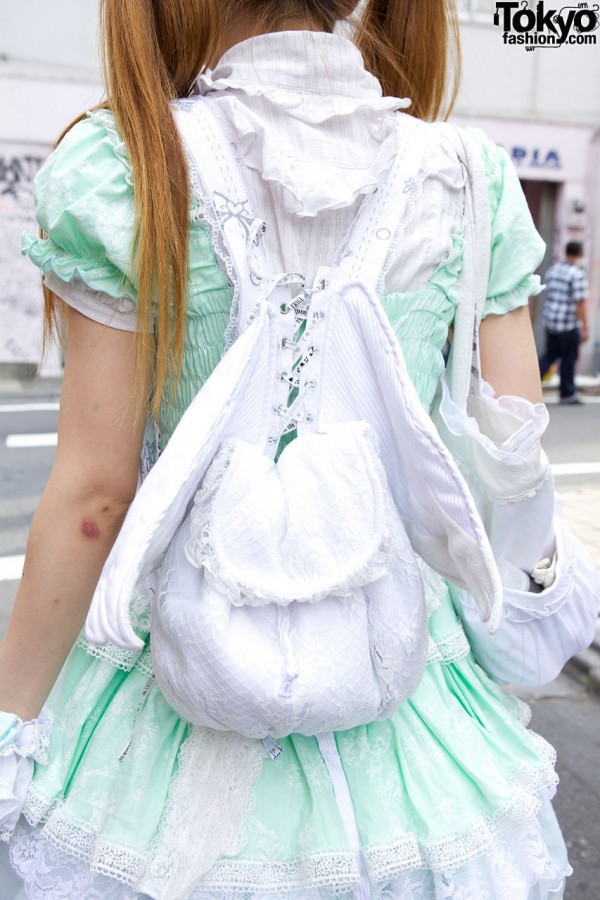 h.NAOTO Frill Angel Wings Backpack