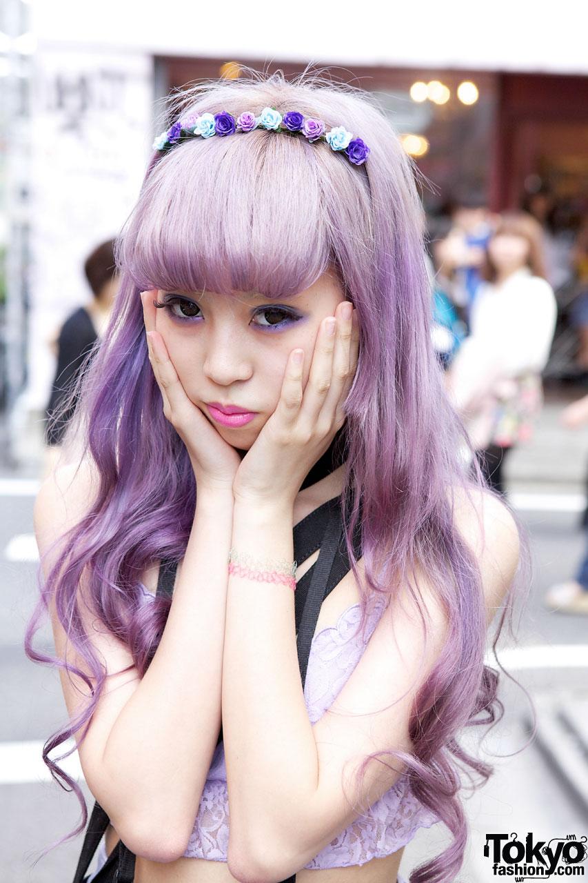 Juria S Lavender Hair Amp Eye Makeup Tokyo Fashion News