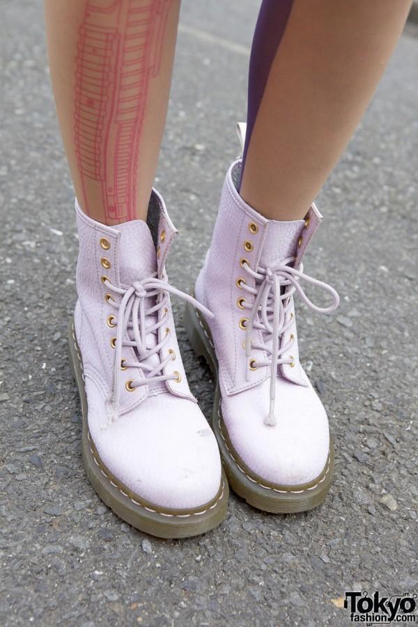 Lavender Dr. Martens Boots