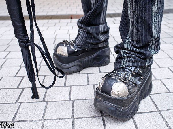 Platform Boots & Gun Umbrella in Shibuya