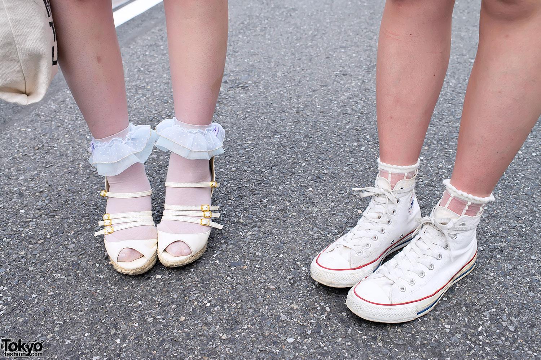 Chuck Taylor All Stars Vs Ruffle Socks Tokyo Fashion News
