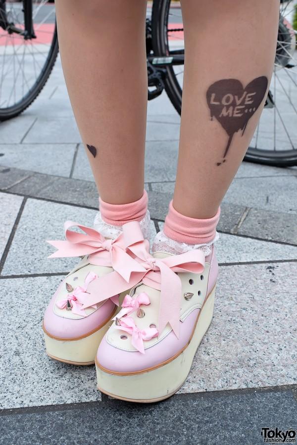 Tokyo Bopper Platforms & Tattoo Tights