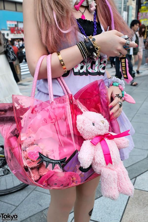 Clear Harajuku Purse & Teddy Bear