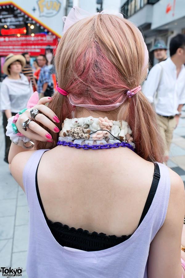 Pink-Blonde Hair in Harajuku