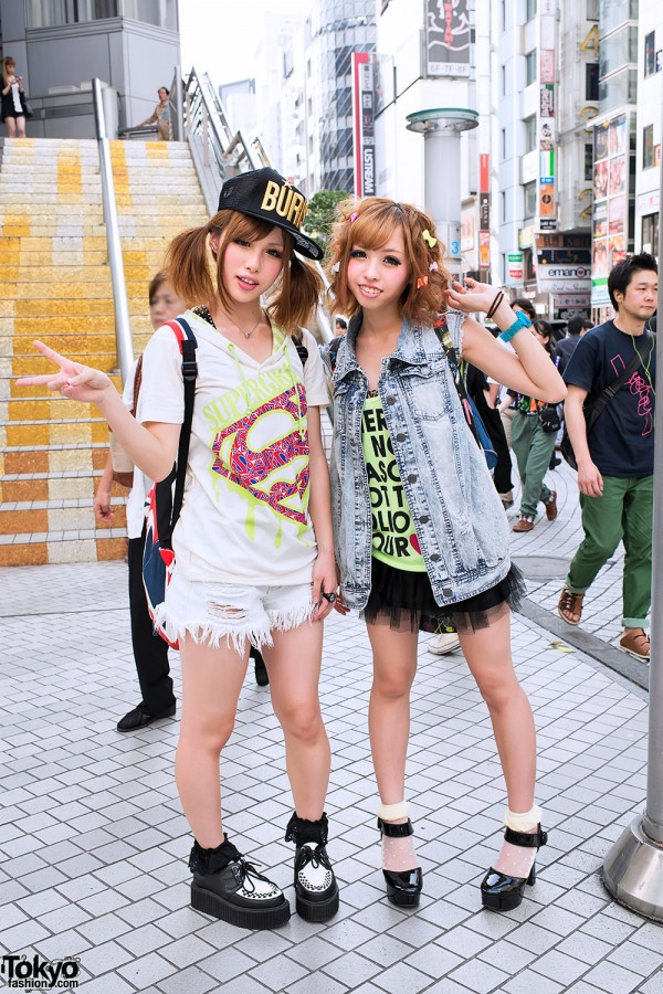 Shibuya Girls in Rock Fashion