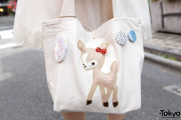 Purse with deer applique from Franche Lippee