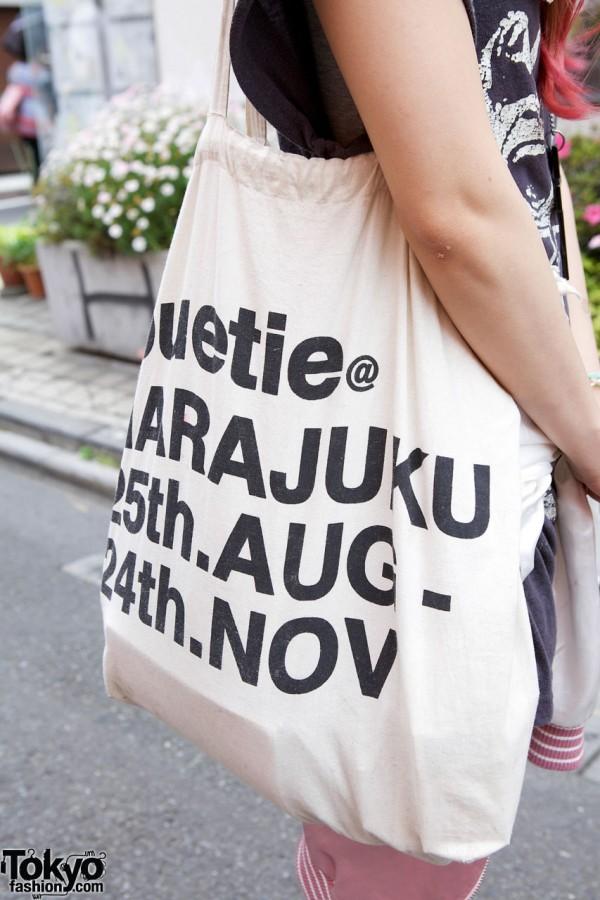 Jouetie tote bag in Harajuku
