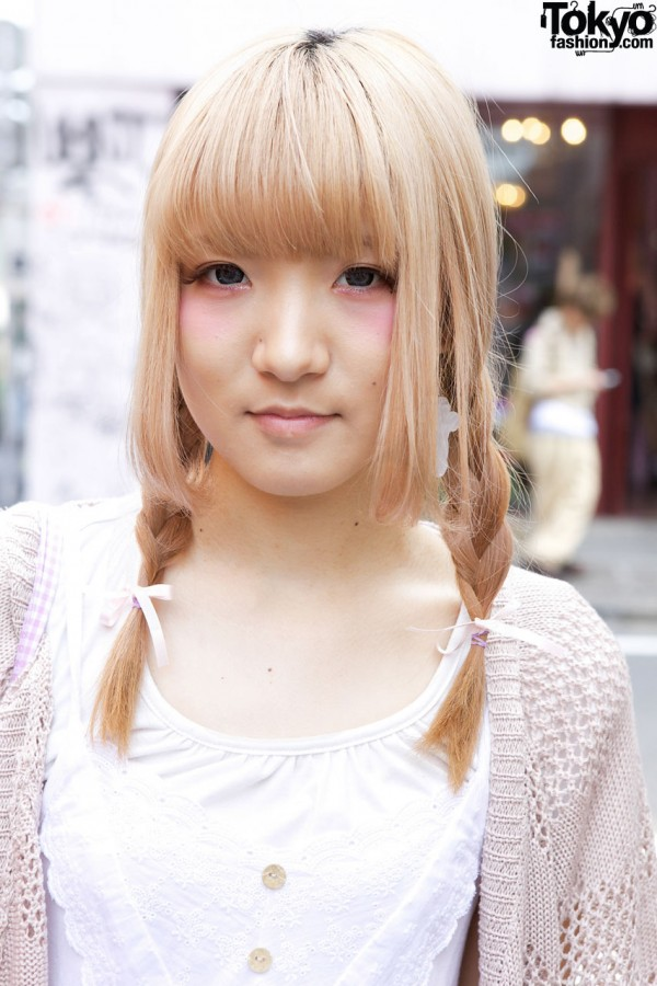 Harajuku girl w/ blonde braids