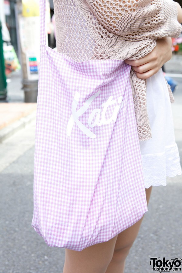 Gingham bag from Katie