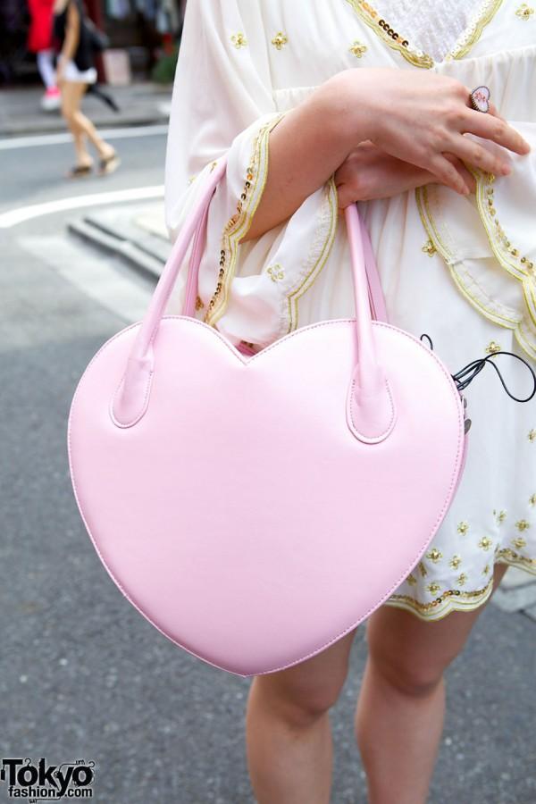 Milk Harajuku Heart Handbag
