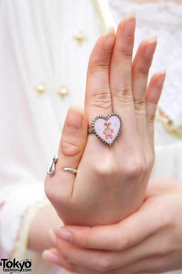 Kawaii Katie Teddy Bear Ring