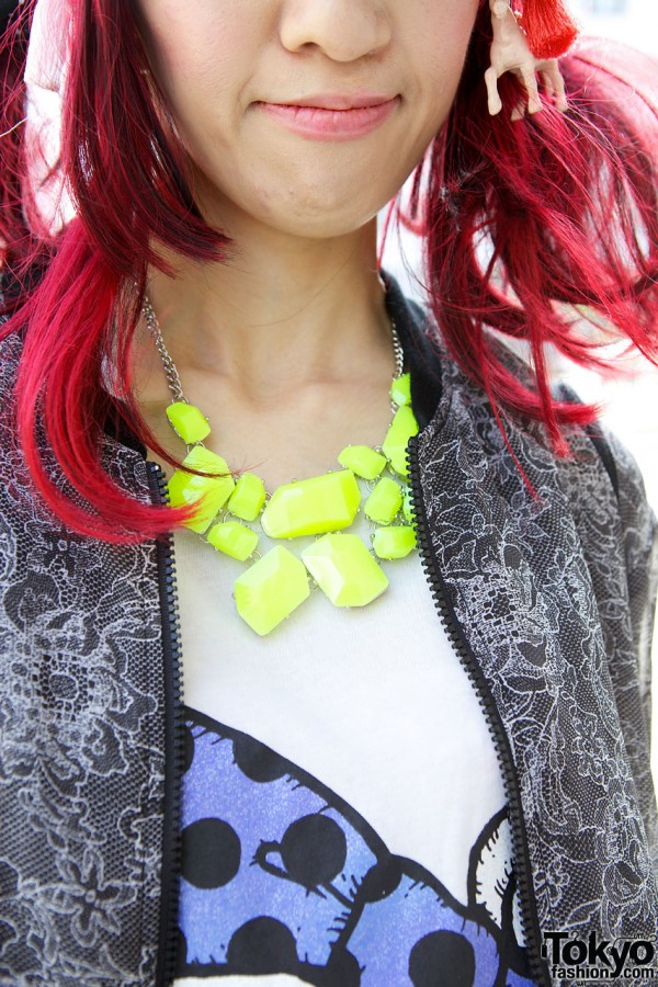 Yellow stone necklace from Monomania