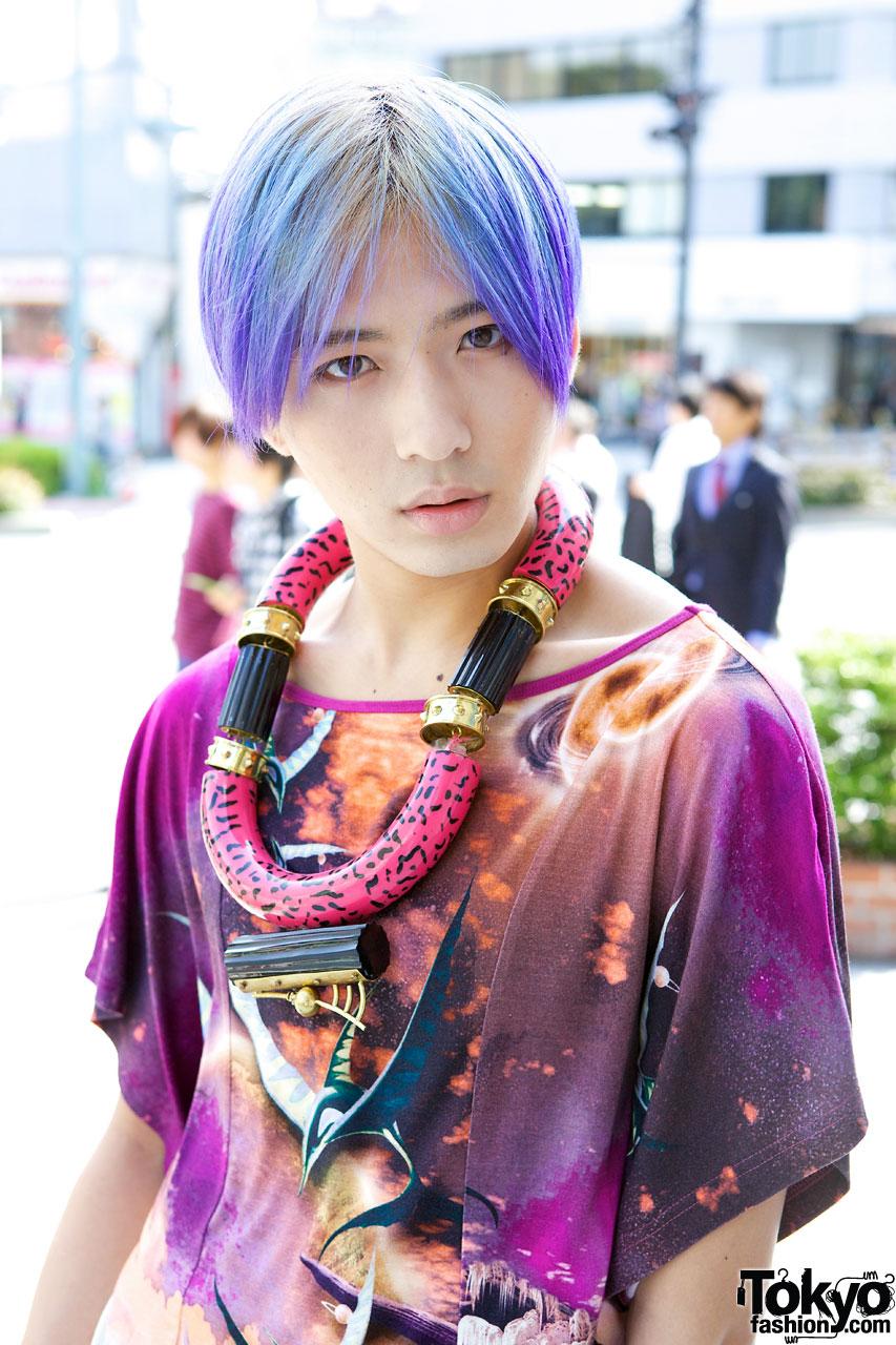 Guy S Purple Hair Manish Arora Top Amp Toga Shorts