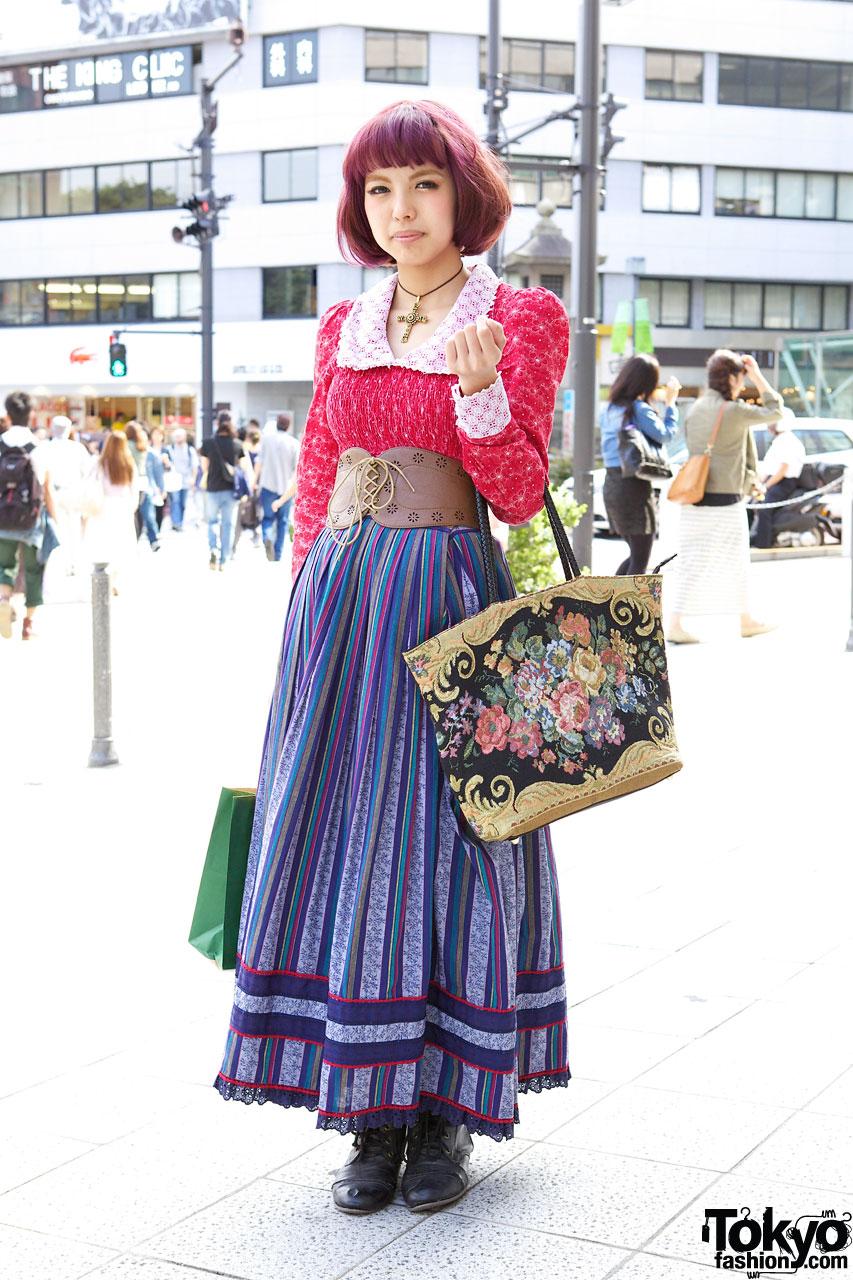 Spinns Staffer Seira's Maxi Skirt & Leather Corset