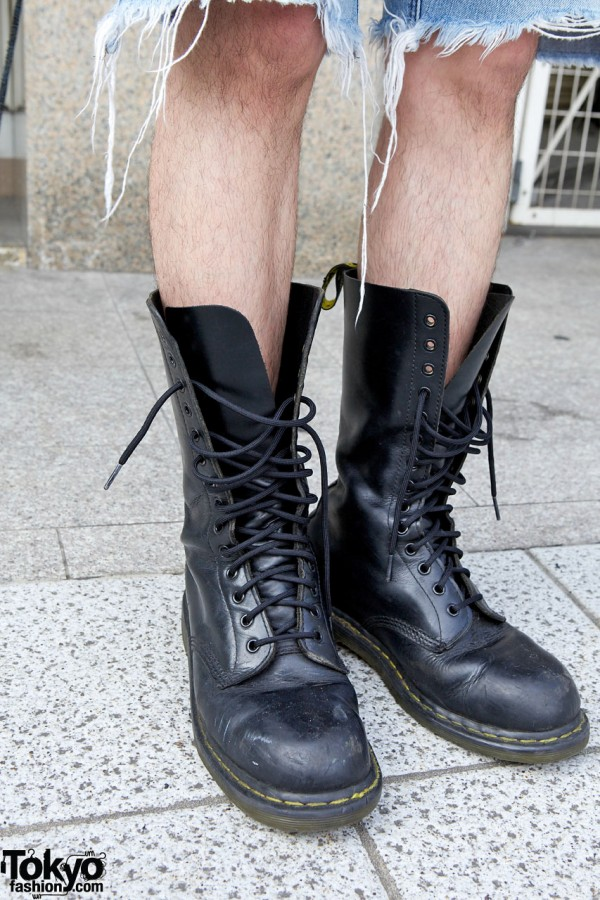 Unlaced Dr. Martens Boots in Harajuku