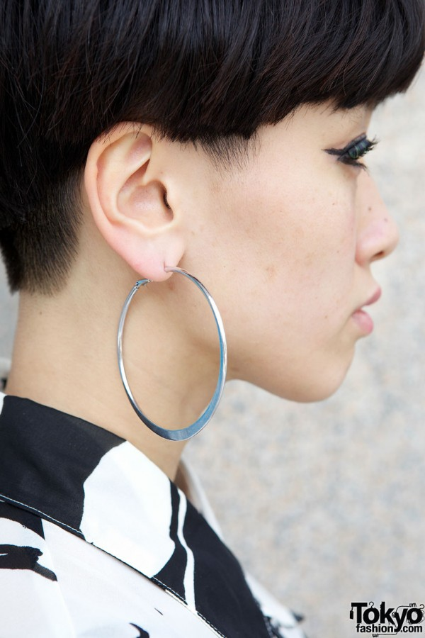 Large Hoop Earrings in Harajuku