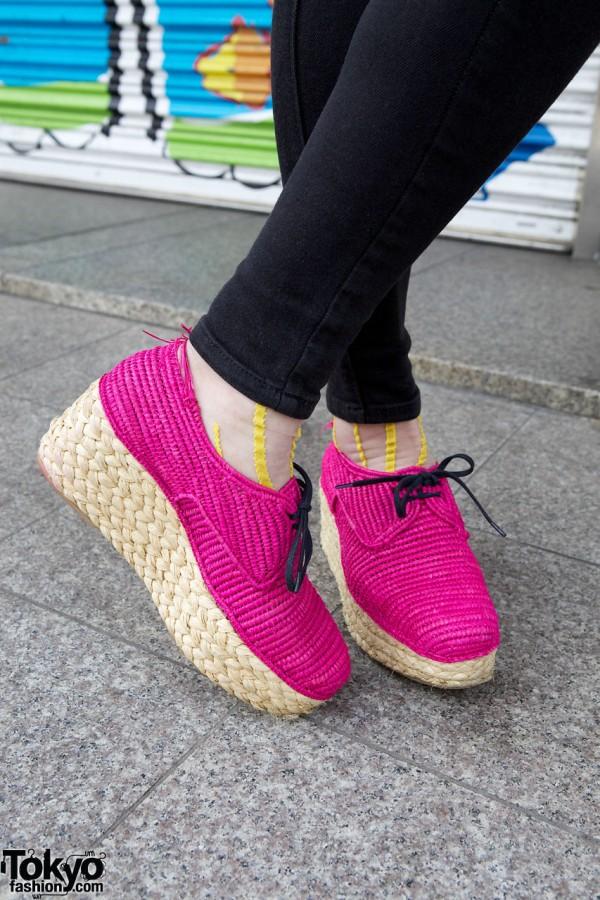 Pink Carven Platform Espadrilles