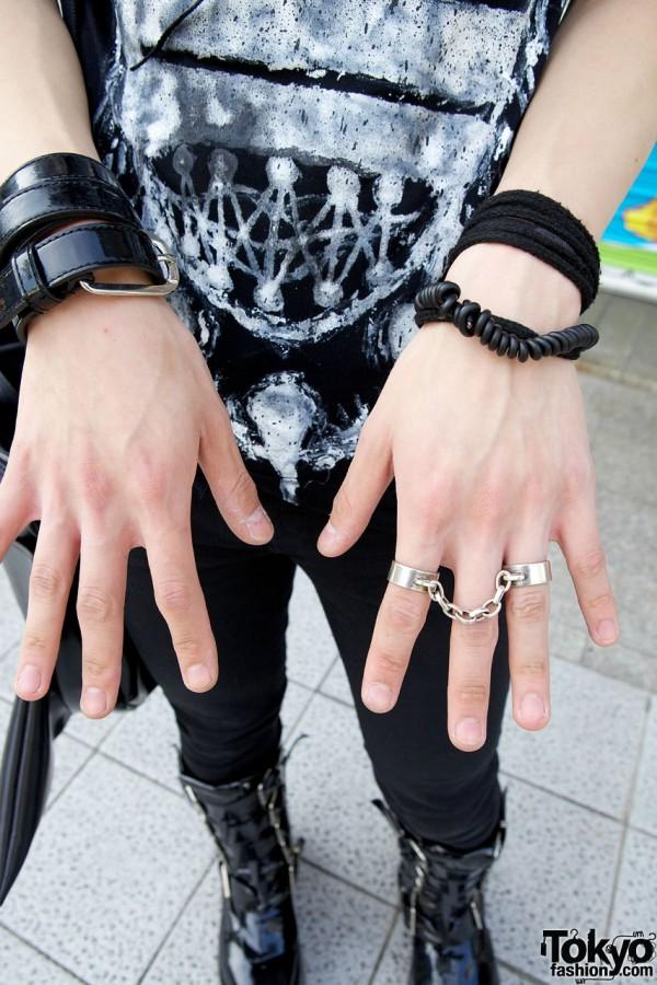 Bondage Ring & Leather Bracelets