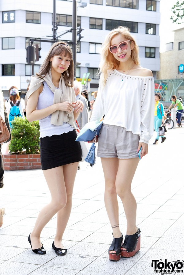 Harajuku Girls in tops from Loves & Lily Brown